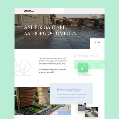 Website for Landscape company