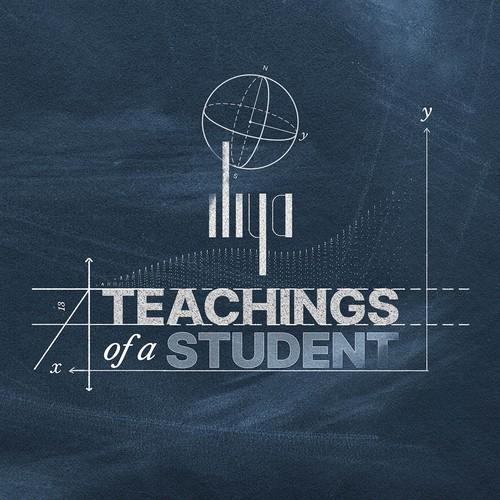 """聪明的设计,为饶签专辑封面,""""学生的教义"""""""