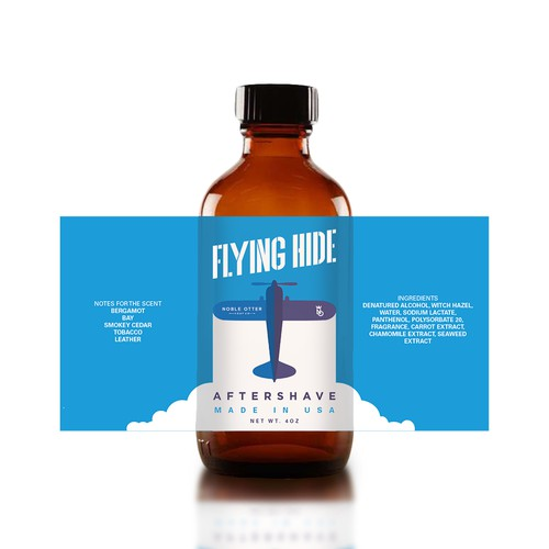 Aftershave label