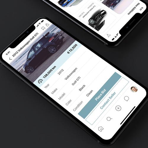UI for used cars bidding app