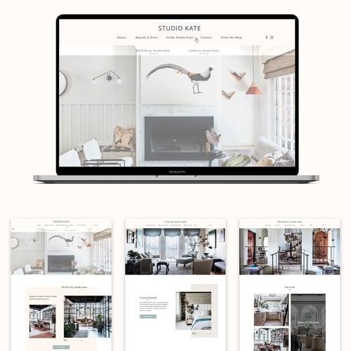 Clean, premium, chic website for interior designer