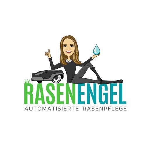 Logo for RasenEngel Lawn Care