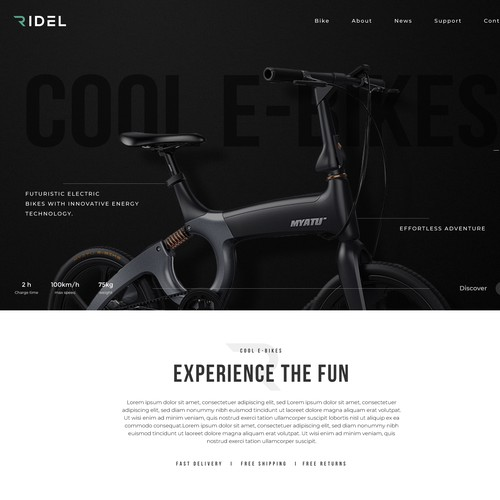 E-Bikes Website Design