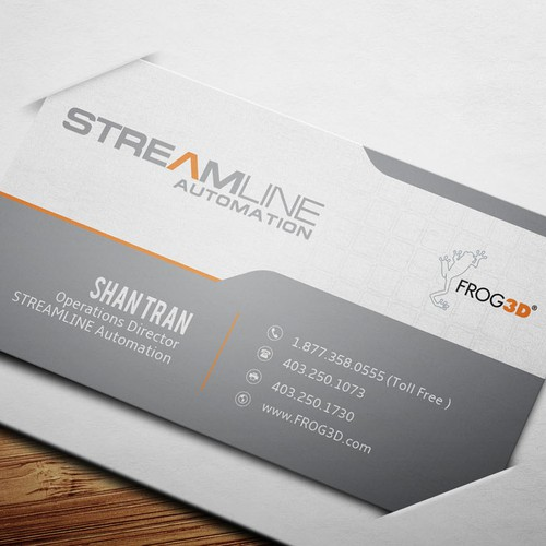 Corporate Business Card Design for STREAMLINE AUTOMATION
