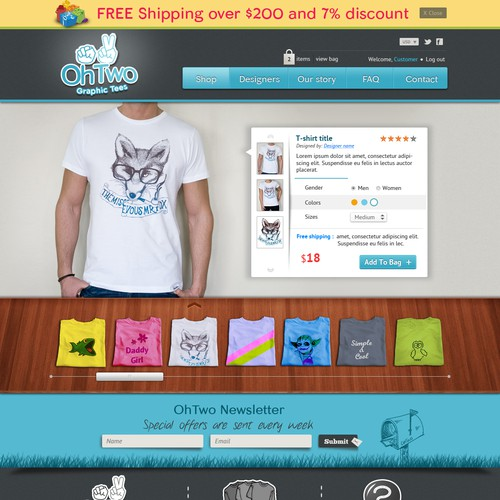 Web Design for OhTwo Store
