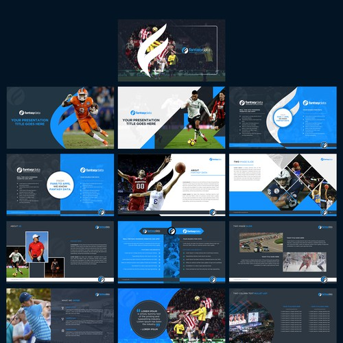 Corporate presentation for a Sports Data Company