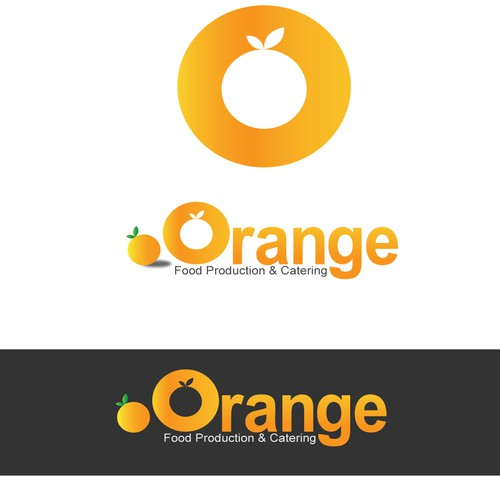 Create the next logo for Orange Food Production & Catering