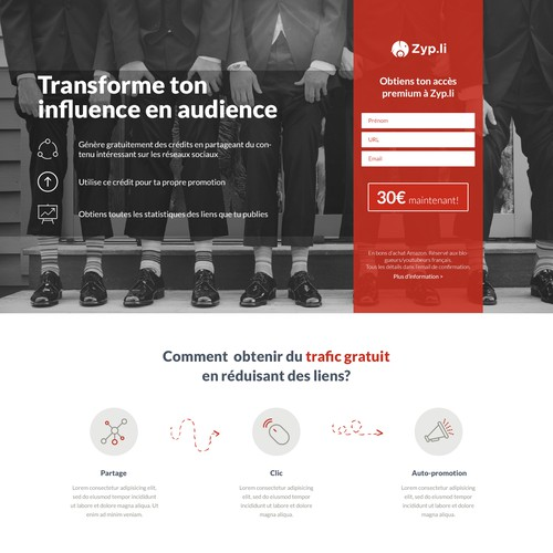 Smart Landing Page for a new WebApp
