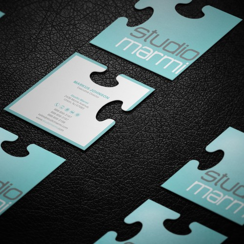 Business card for Studio Marmi