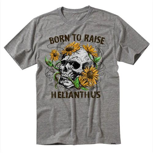 Tshirt design for sunflower business