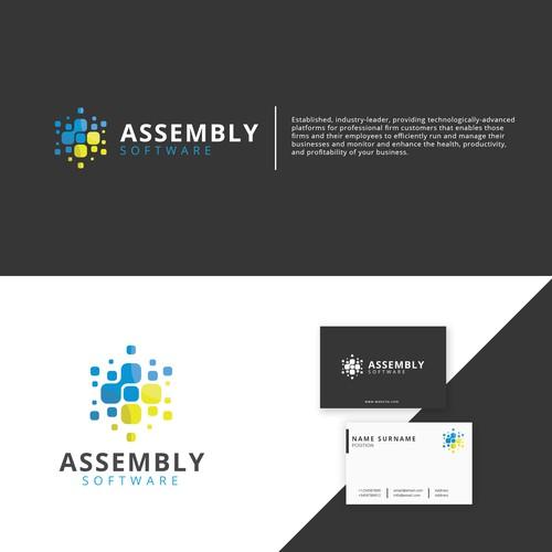 bold and geometric logo concept