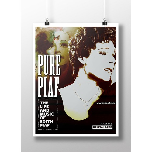 Create iconic image for the show Pure Piaf:  The Life and Music of Edith Piaf