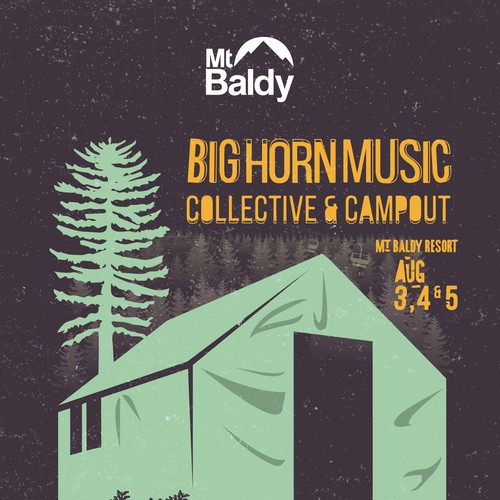 Mt Baldy Winter Poster