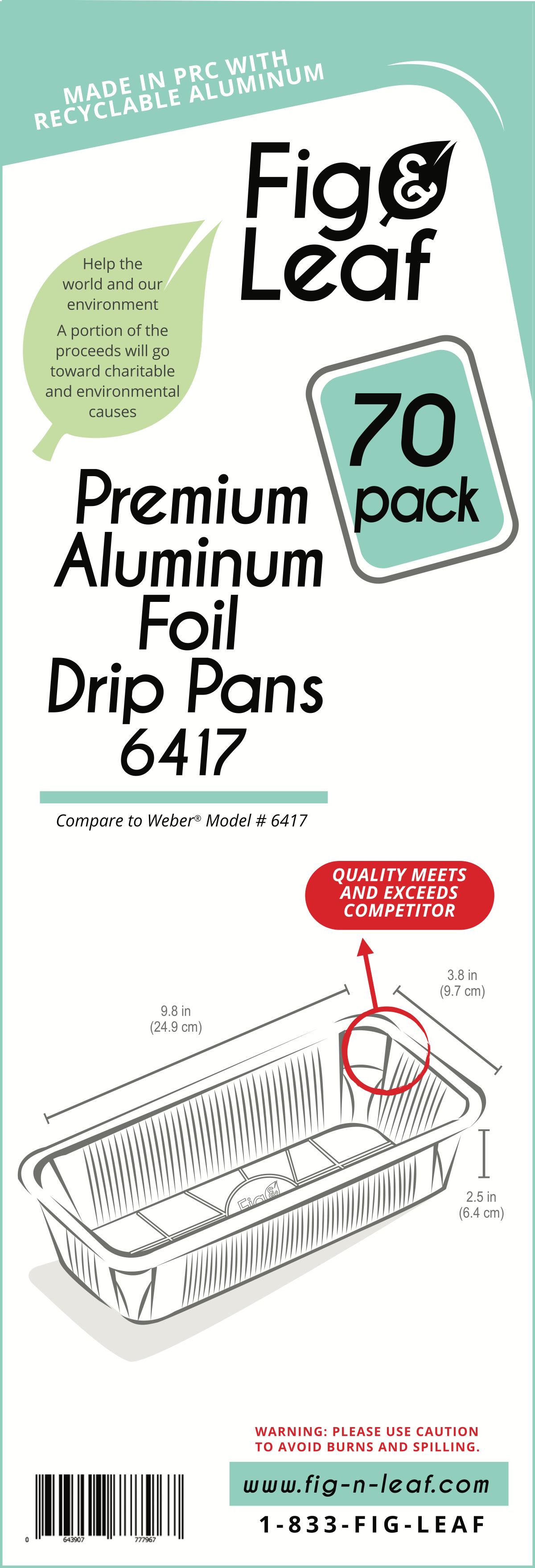 Label for foil pans