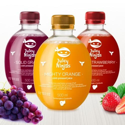 Juicy Ninjas Bottle Design Concept
