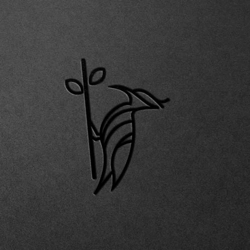 woodpecker logo concept