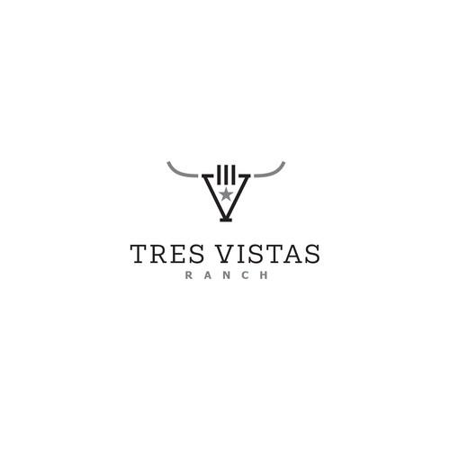 Tres Vistas Ranch logo design