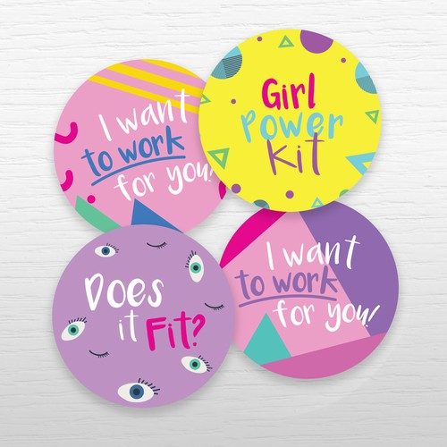 Stickers for self promoting fashion box