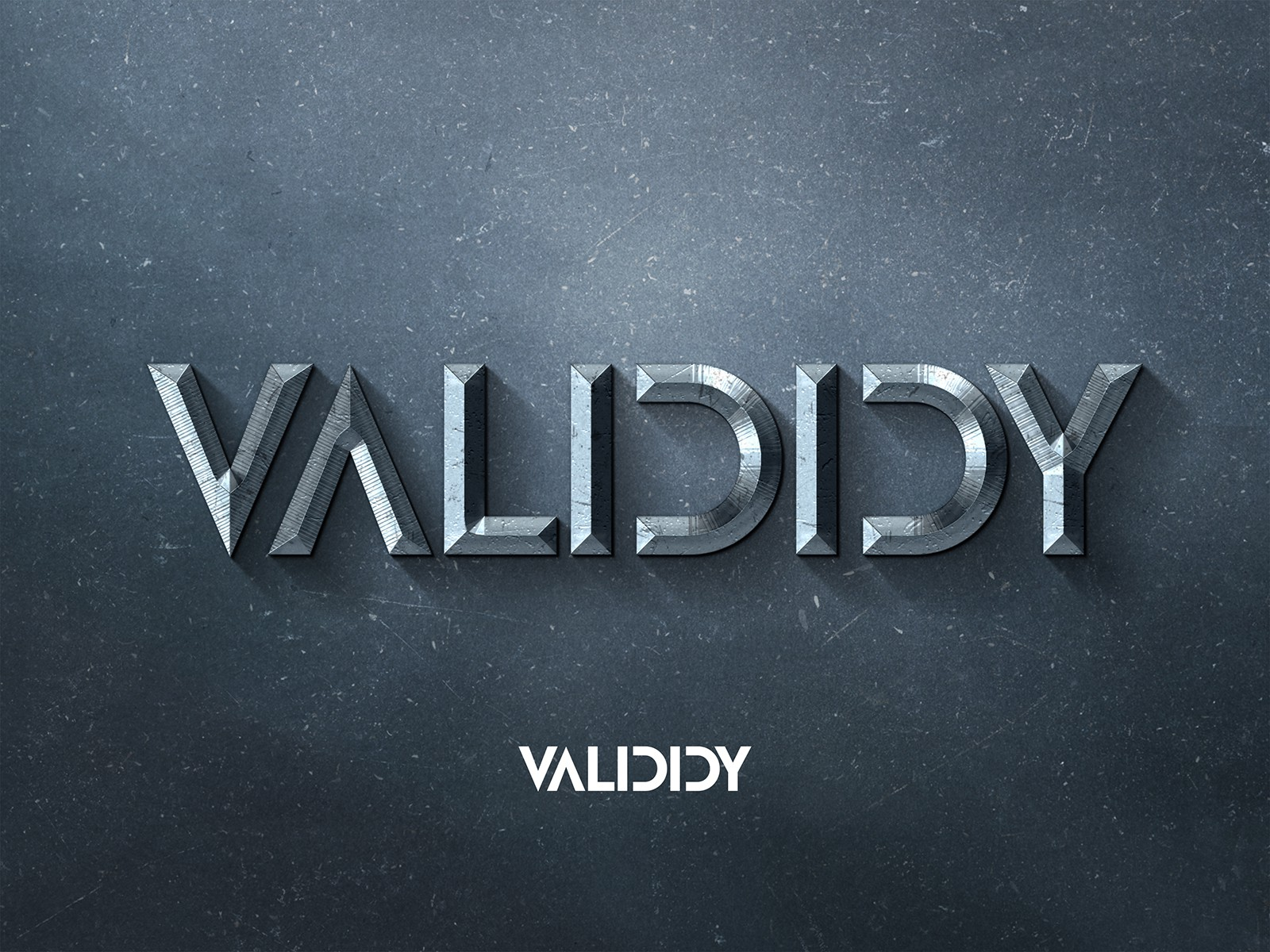 """Create a strong, firm, art deco & metallic grey and black toned inspired logo for """"Valididy""""!!"""