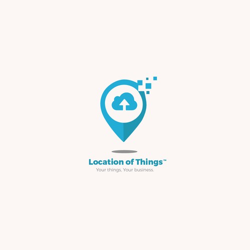 Location of Things Logo concept