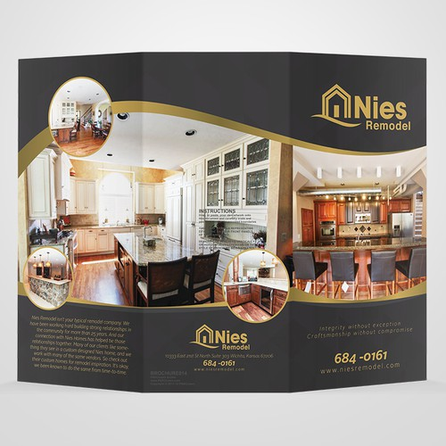 Design a trifold mailer/brochure for a high end remodeling company!