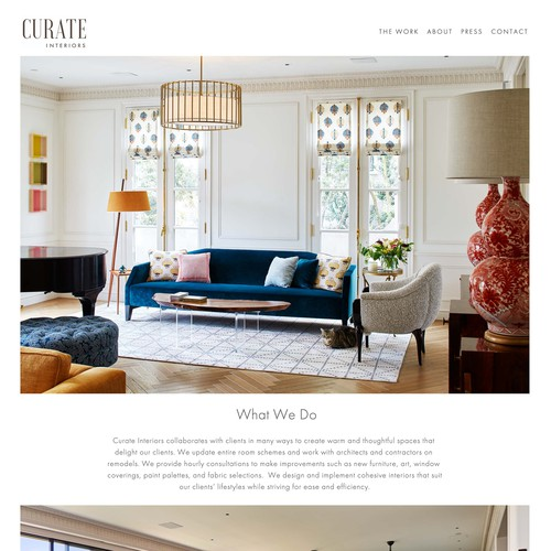 Curate Interiors - A Residential Interior Design Firm in San Francisco, CA.
