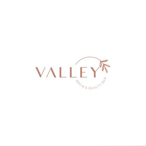 Valley - Brow & Beauty Bar Logo Design