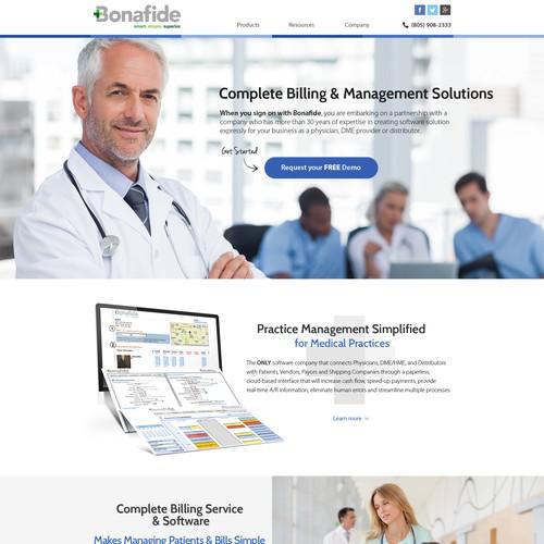 Clean, modern medical website for Bonaide