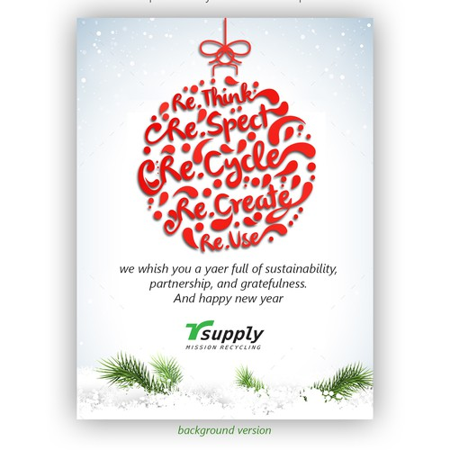 worldclass christmas card for customers and business partners