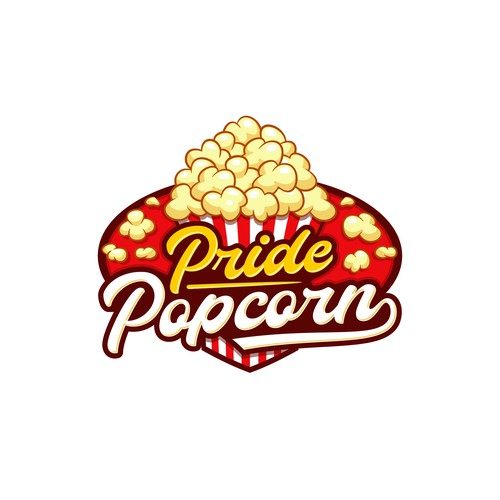 Poping logo for a popcorn product