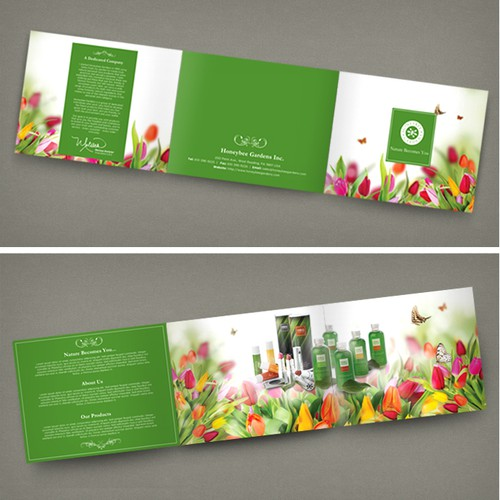 Brochure for Natural Cosmetic Company