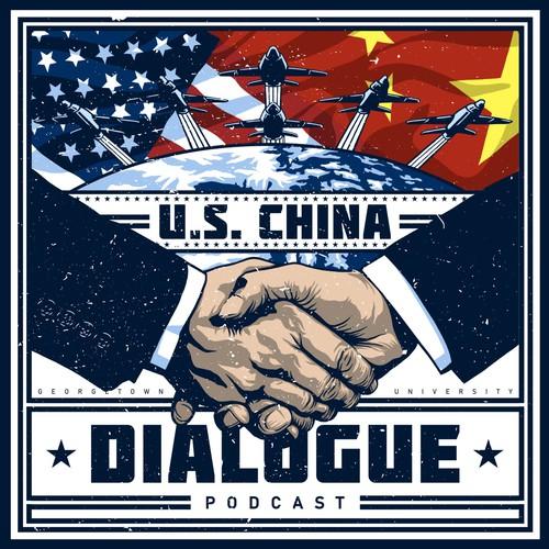 Propaganda-Style Cover Art for a Podcast