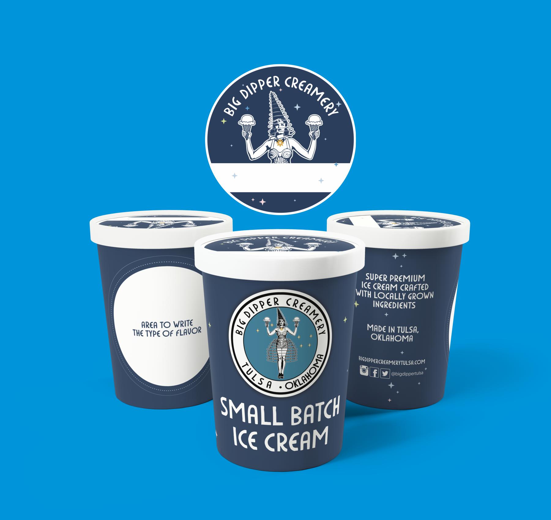 small batch ice cream shop needs a pint label