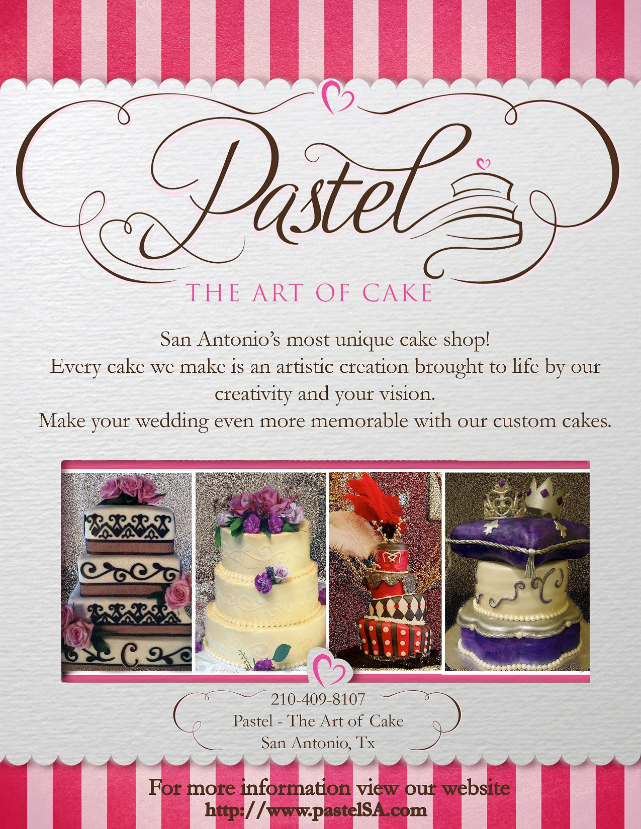 Help Pastel - The Art Of Cake with a new postcard or flyer