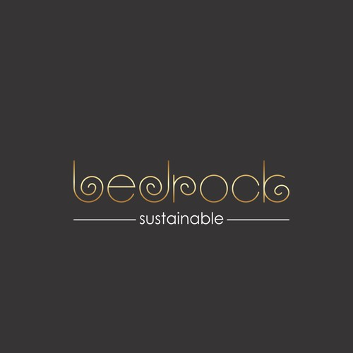 Luxury logo for bedrock salon