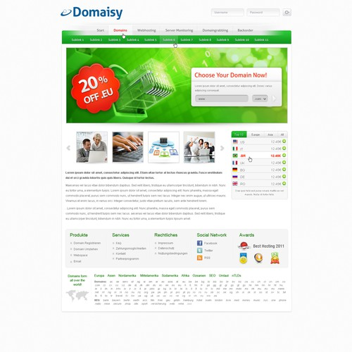 New website design wanted for domaisy.de