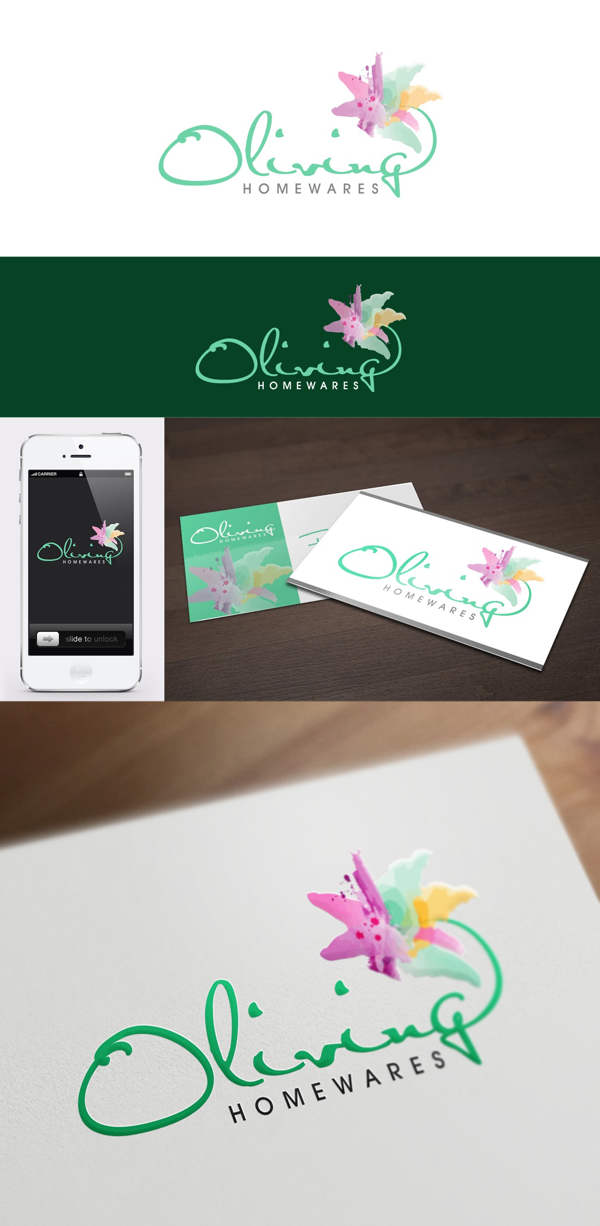 Help Oliving Homewares with a new logo and business card