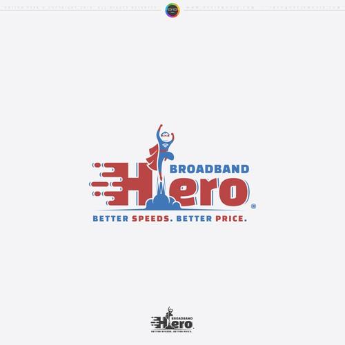 Broadband Hero Logo Design