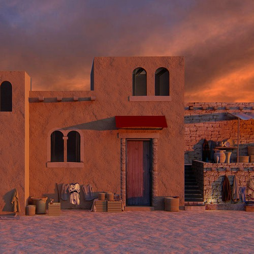 Ancient city, 3D rendering