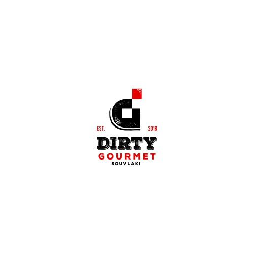 Unique bold logo for gourmet food restaurant