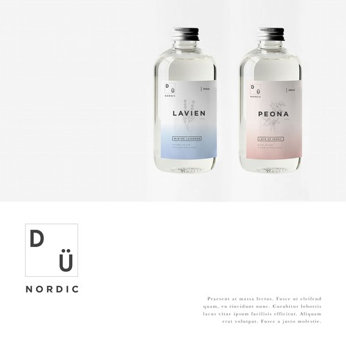 Label design for Dünordic cosmetic