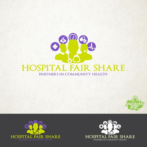 Hospital Fair Share Concept Logo
