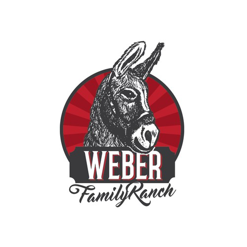"""Create a vintage look for a family ranch with a """"Ass"""" as it's mascot!"""
