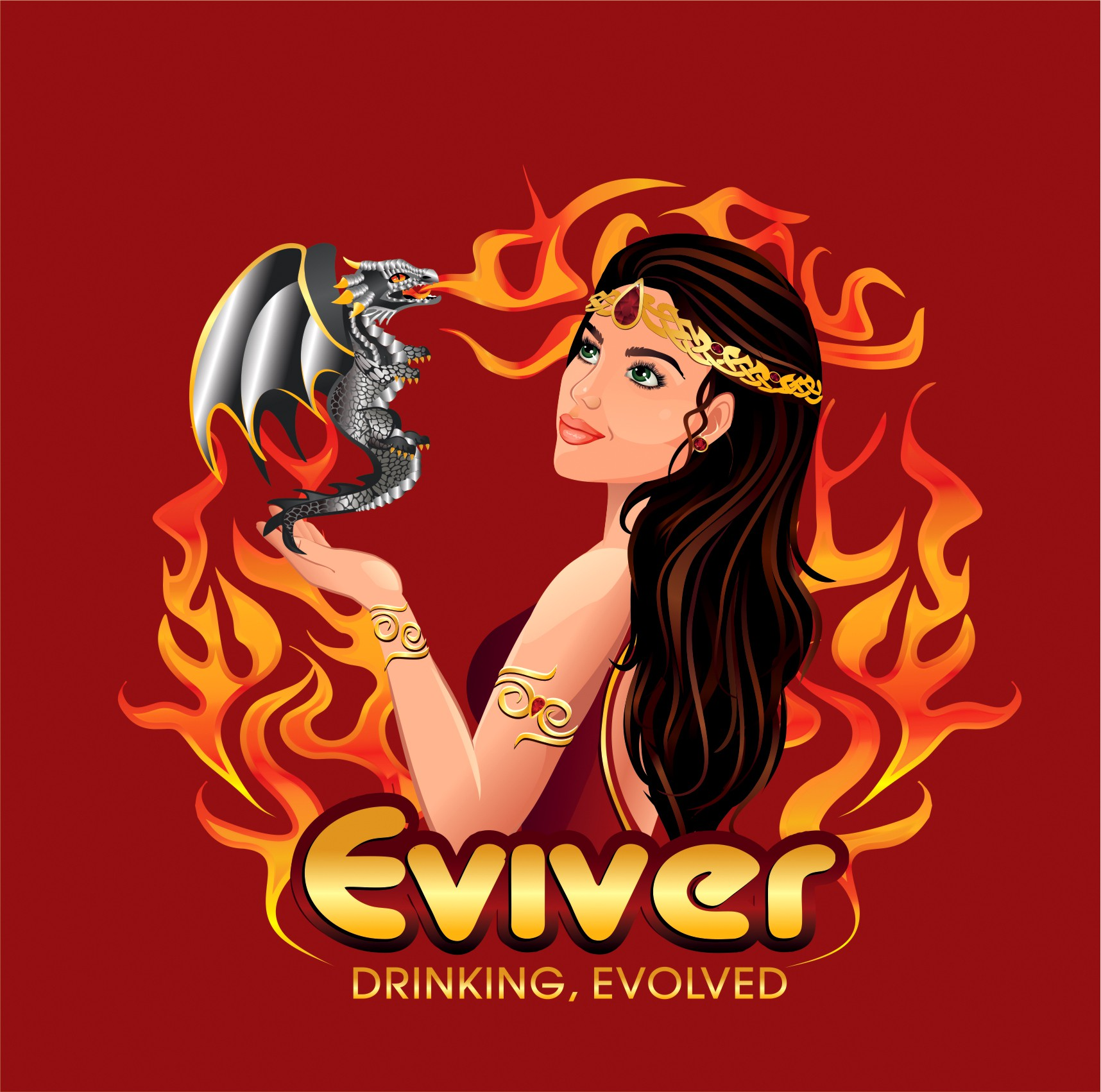 Sexy+Empowered, Smart+Snarky, Assertive+Sophisticated Goddess-like Logo Design Needed for Premium Lifestyle Beverage