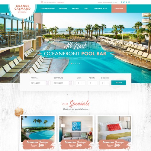 Grande Cayman Resort Wedsite WordPress Design