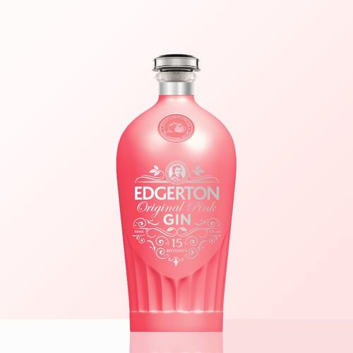 Edgerton Gin Bottle Label design