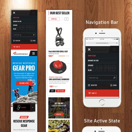 Mobile Site Design Mockup