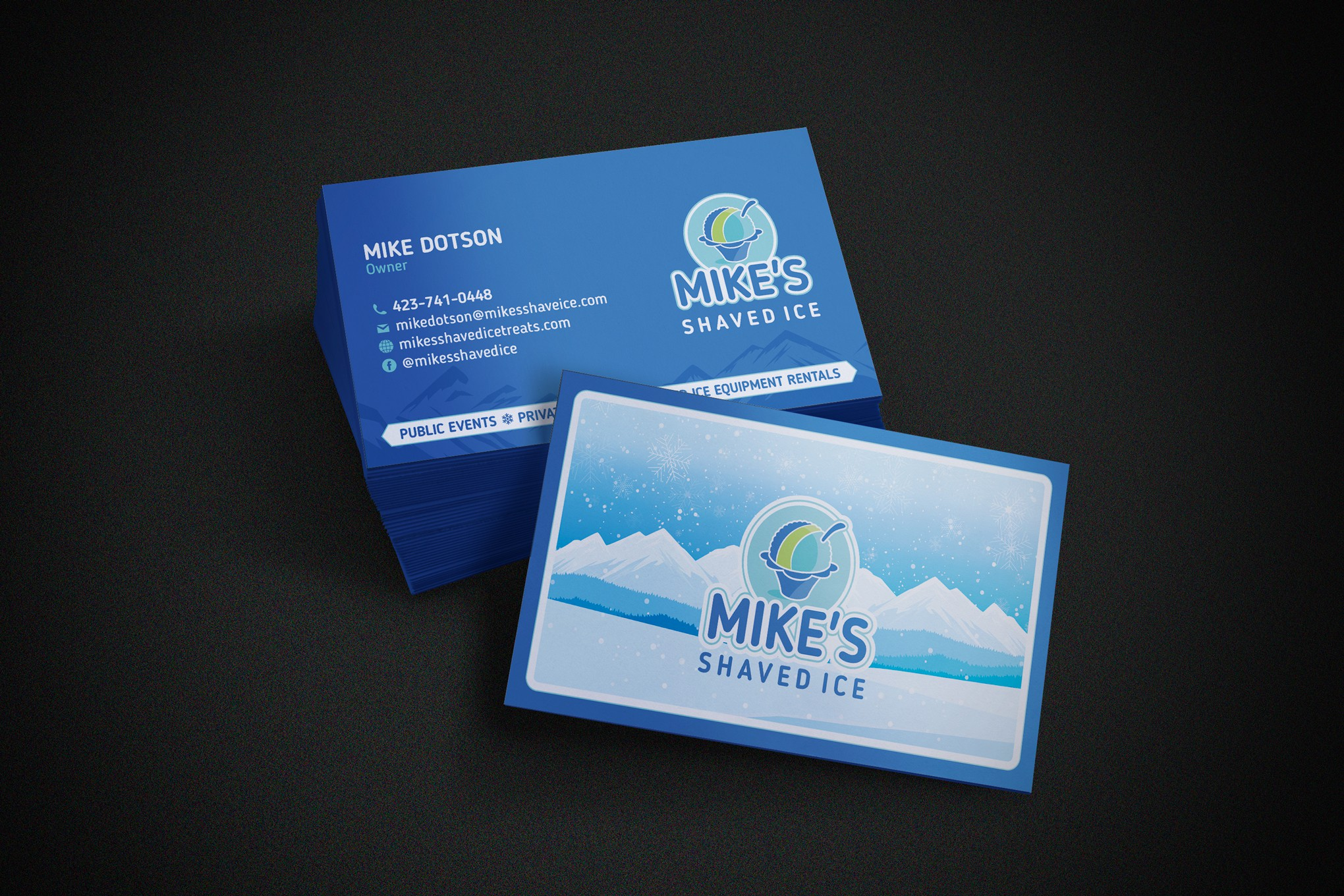 Shaved Ice Business Card