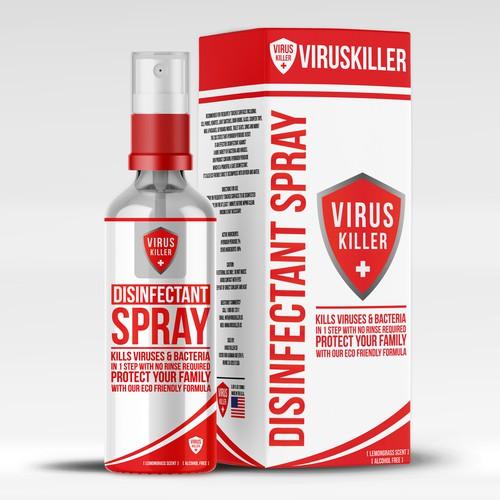 Disinfectant Spray Bottle Design