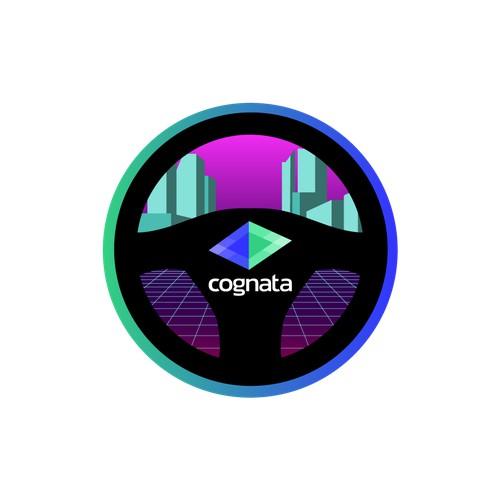 Cool sticker for tech business